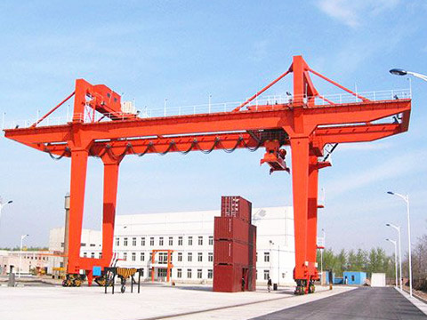high quality rubber tyred gantry crane sale